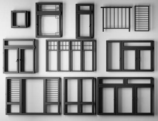 铝合金, 窗, 平开窗, 铝合金窗, 构件, 五金