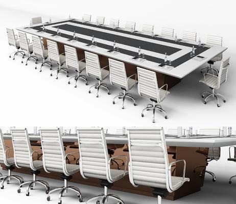 会议桌, 办公椅, 现代, 桌子, 椅子