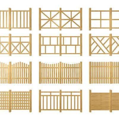 栏杆, 篱笆, 现代, 田园