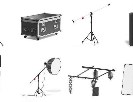 摄影棚, 摄影设备组合, 现代