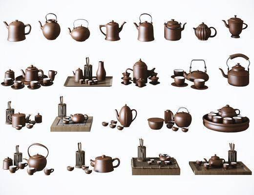 茶具组合, 茶壶茶杯, 中式