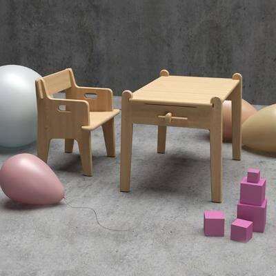 北欧儿童桌椅, 儿童玩具