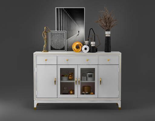 邊柜, 擺件組合, 置物柜, 裝飾畫