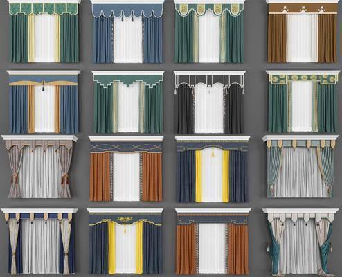 窗帘组合, 新中式
