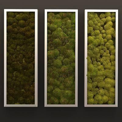 现代, 植物墙, 植物背景墙, 背景墙, 植物