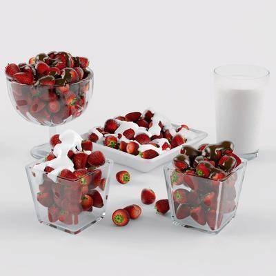 水果, 草莓, 食物, 现代