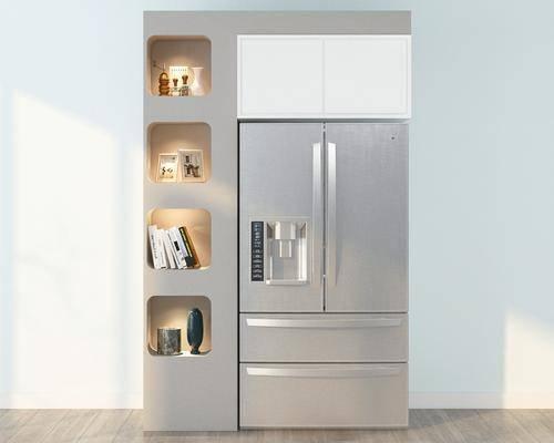 冰箱, 冰柜, 现代冰箱, 现代冰柜, 摆件, 现代