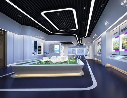 企业展厅, 展览展厅, 大堂大厅, 现代