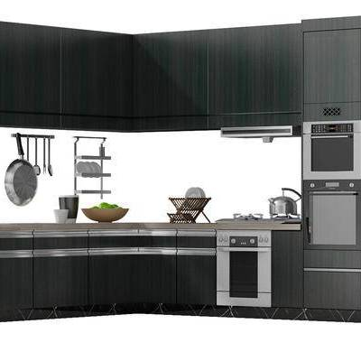 橱柜, 厨柜, 冰箱, 厨具, 现代