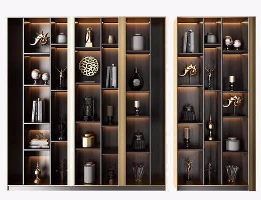 装饰柜架, 置物柜, 摆件