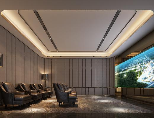 影音室, 现代影音室, 单椅, 现代