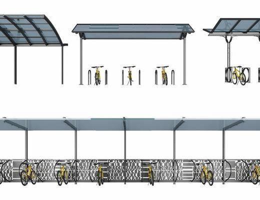 车棚, 遮阳棚, 遮雨棚, 自行车
