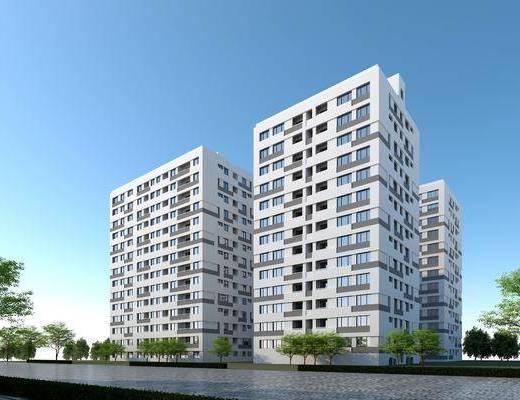 高層住宅, 商品樓, 住宅, 樓房