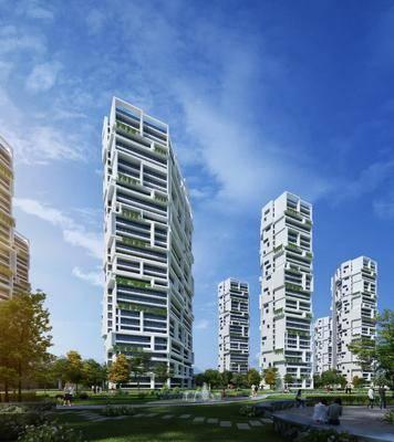 住宅, 公共建筑, 人物, 女人, 树木植物, 现代