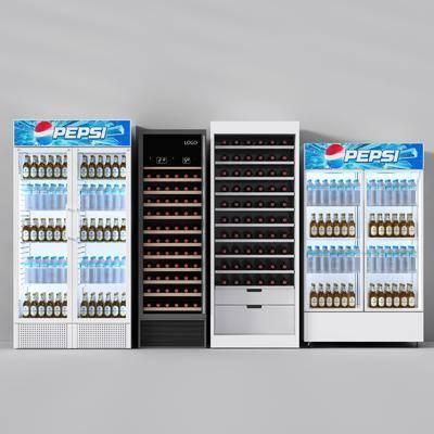 冰箱, 冰柜, 现代, 可乐