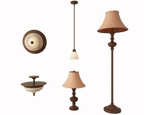 台灯, 吊灯, 路灯, 吸顶灯