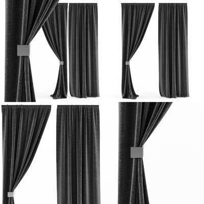 窗帘, 纯色窗帘, 布艺窗帘, 艺术窗帘, 客厅窗帘, 现代