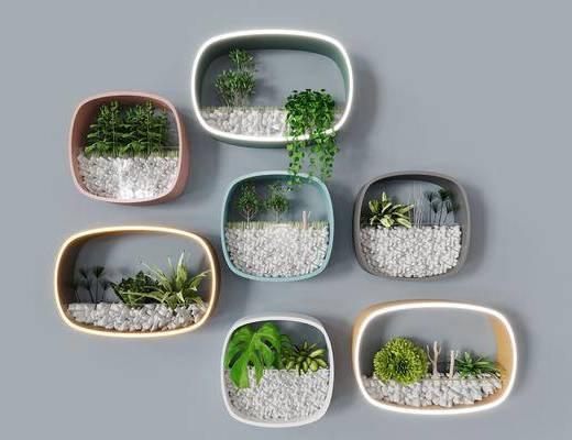 北欧植物装饰, 背景装饰