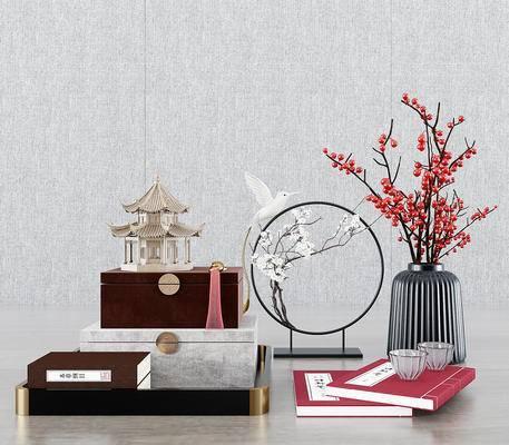 新中式饰品摆件组合