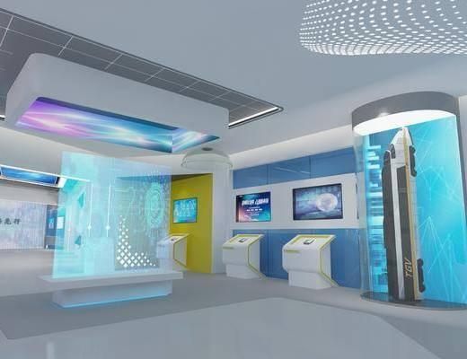 现代展厅, 展厅, 科技展厅