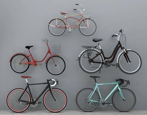 自行车, 休闲自行车, 老式自行车, 现代