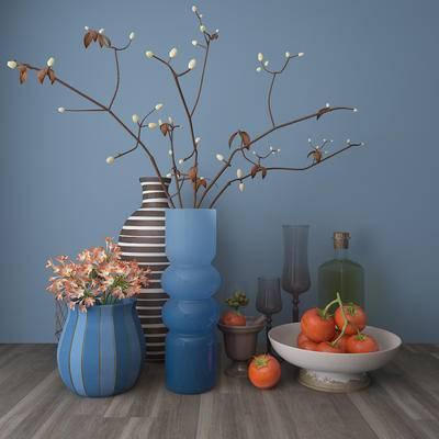 现代玻璃陶瓷, 器皿, 摆件, 装饰画