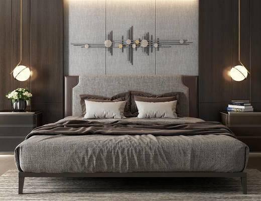 现代双人床, 现代卧室