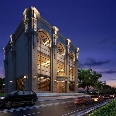 酒店, 建筑, 欧式, 现代