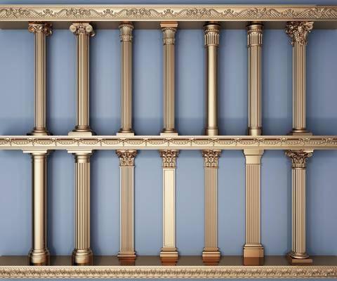 罗马柱, 柱子, 雕花