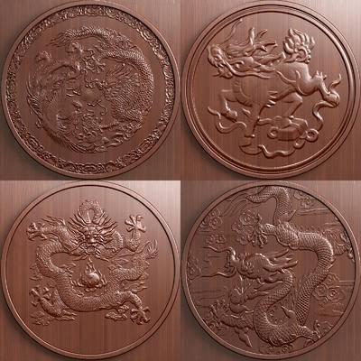 中式, 浮雕, 构件, 实木, 雕像