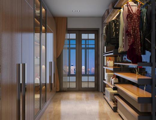 衣帽间, 服饰, 服装, 衣柜