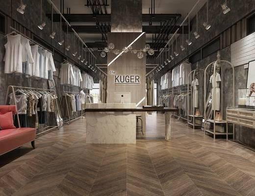 服装店, 服饰, 模特, 衣架