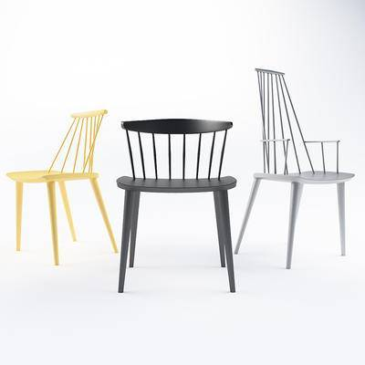 北欧简约, 椅子, 北欧椅子, 靠椅