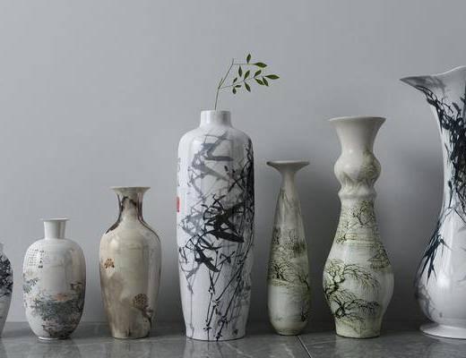花瓶, 陶瓷器皿, 新中式