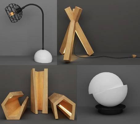 现代, 台灯, 造型灯, 灯具