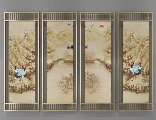装饰画, 挂画, 照片墙, 新中式