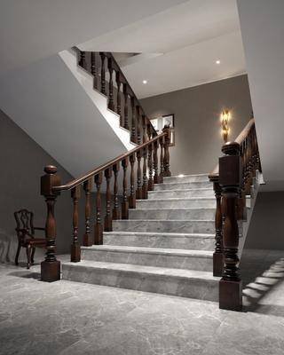 楼梯, 壁灯, 景观小品