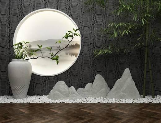 景观小品, 园林小品, 园艺小品, 现代, 新中式