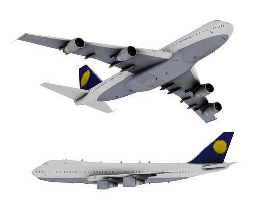 现代波音747飞机客机马航航模