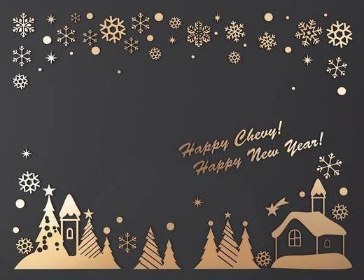 玻璃贴, 墙饰, 圣诞