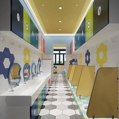 衛生間, 便池, 洗手臺組合, 現代
