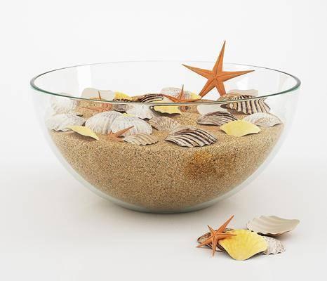 现代装饰品, 扇贝, 玻璃器皿