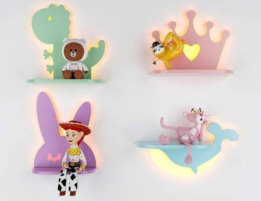 现代壁灯, 卡通壁灯, 动画壁灯, 壁灯组合