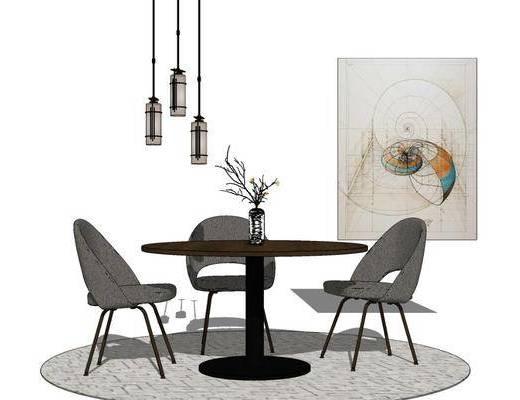 现代桌椅组合, 餐桌椅