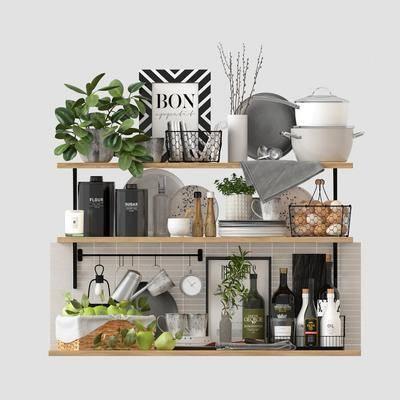 现代厨具, 厨具, 餐具, 摆件组合