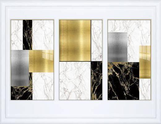 挂画组合, 装饰画, 抽象挂画, 艺术画组合, 组合画, 现代