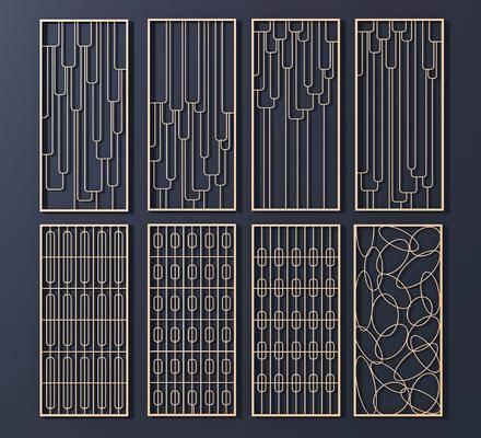 金属花格, 屏风隔断, 现代