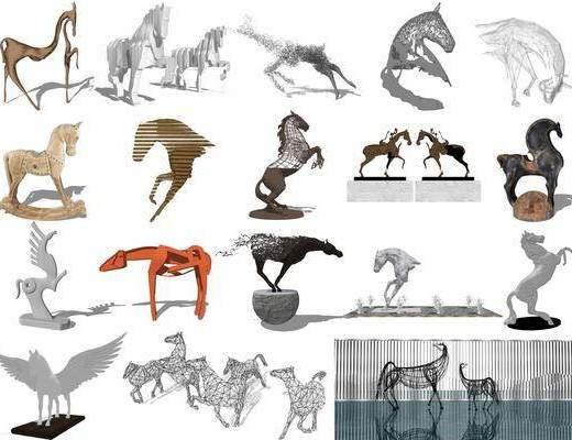 现代动物雕塑