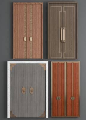 双开门, 新中式双开门, 木门