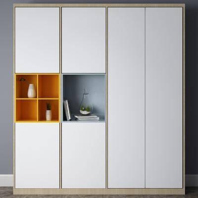 衣柜, 摆件组合, 现代